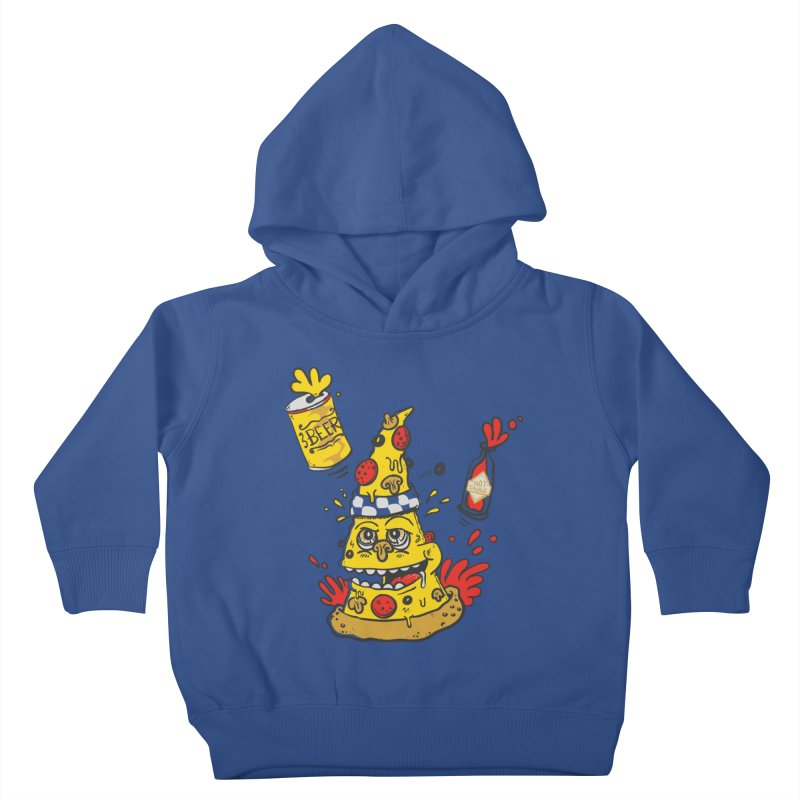 Pizza, Hot Sauce & Beer Kids Toddler Pullover Hoody by jumpy's Artist Shop