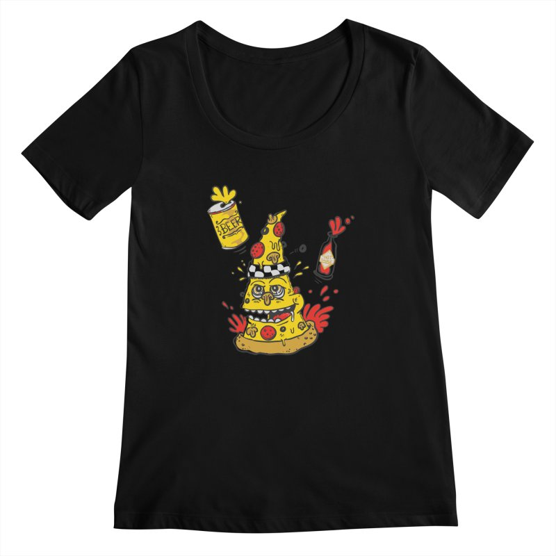 Pizza, Hot Sauce & Beer Women's Scoopneck by jumpy's Artist Shop