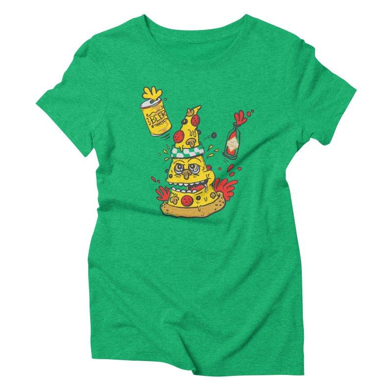 Pizza, Hot Sauce & Beer Women's Triblend T-shirt by jumpy's Artist Shop