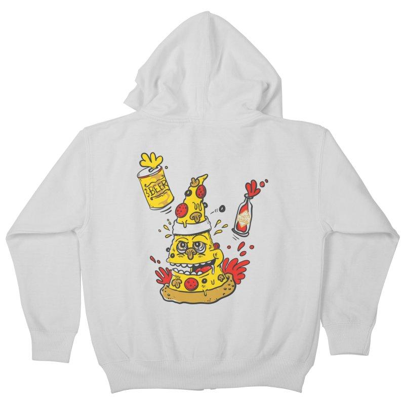 Pizza, Hot Sauce & Beer Kids Zip-Up Hoody by jumpy's Artist Shop