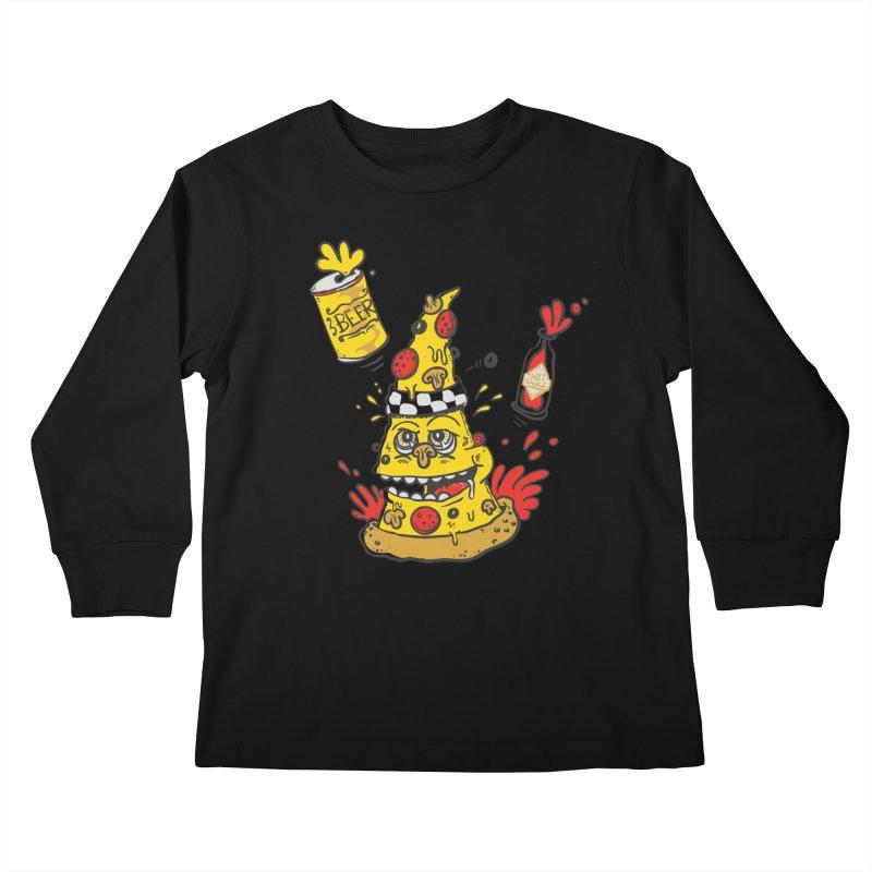 Pizza, Hot Sauce & Beer Kids Longsleeve T-Shirt by jumpy's Artist Shop