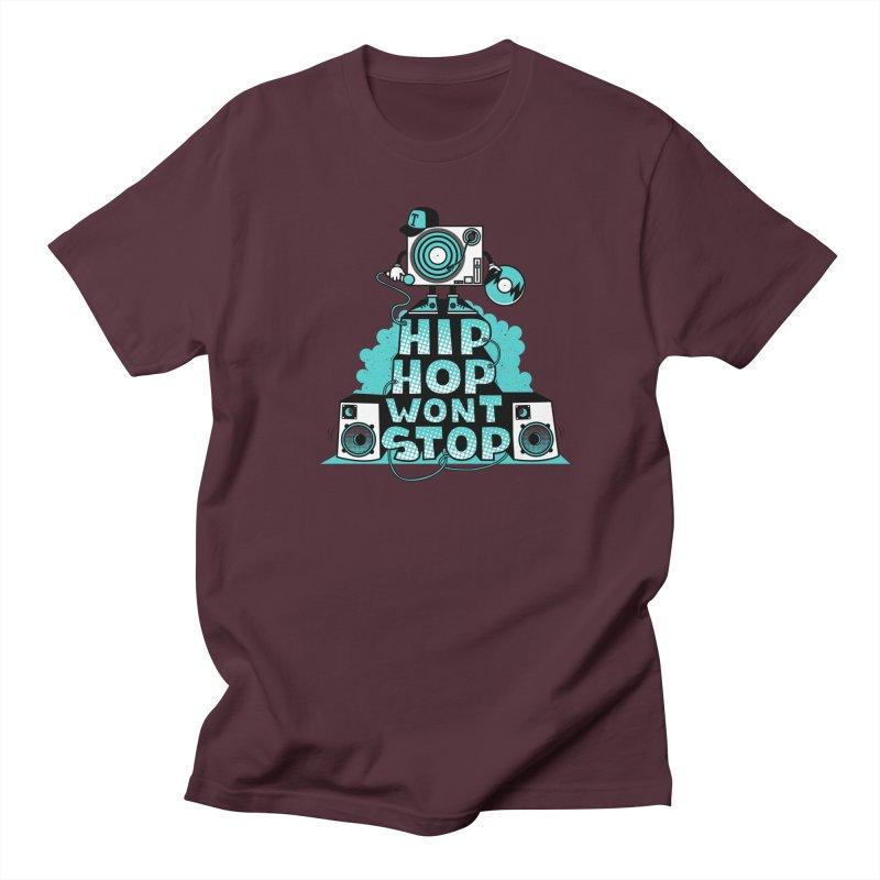 HIP-HOP WON'T STOP Men's T-Shirt by jumpy's Artist Shop