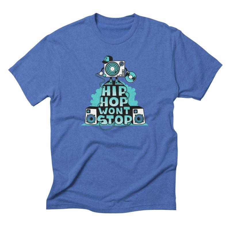 HIP-HOP WON'T STOP Men's Triblend T-shirt by jumpy's Artist Shop