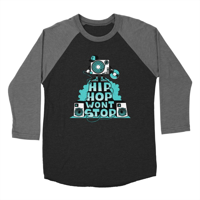 HIP-HOP WON'T STOP Women's Baseball Triblend T-Shirt by jumpy's Artist Shop