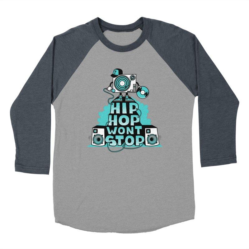 HIP-HOP WON'T STOP Women's Baseball Triblend T-Shirt by jumpy's Artist Shop
