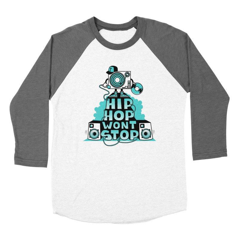HIP-HOP WON'T STOP Men's Baseball Triblend T-Shirt by jumpy's Artist Shop
