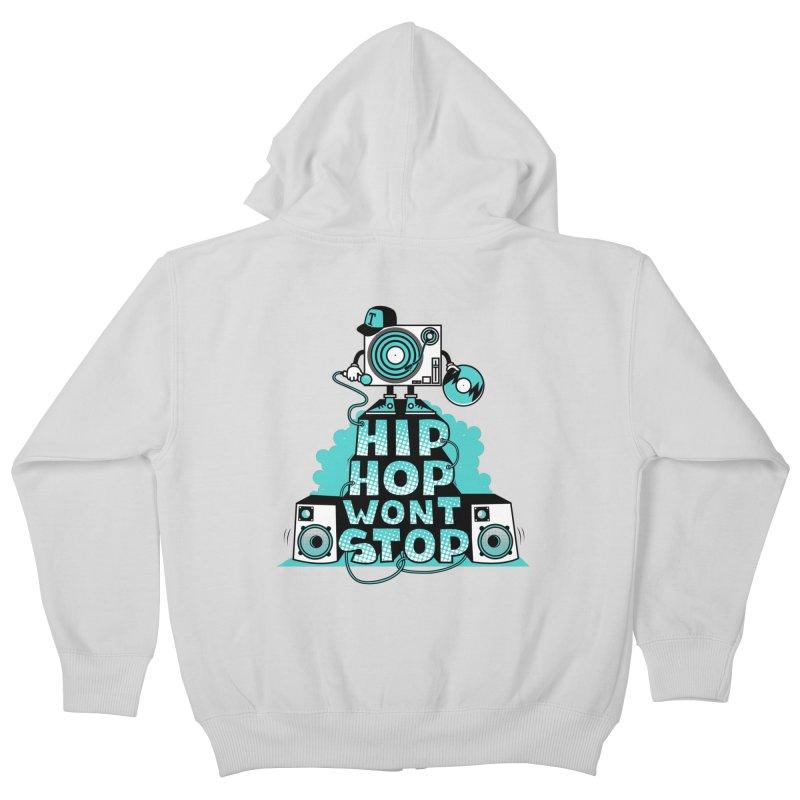 HIP-HOP WON'T STOP Kids Zip-Up Hoody by jumpy's Artist Shop