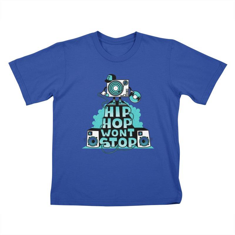 HIP-HOP WON'T STOP Kids T-shirt by jumpy's Artist Shop