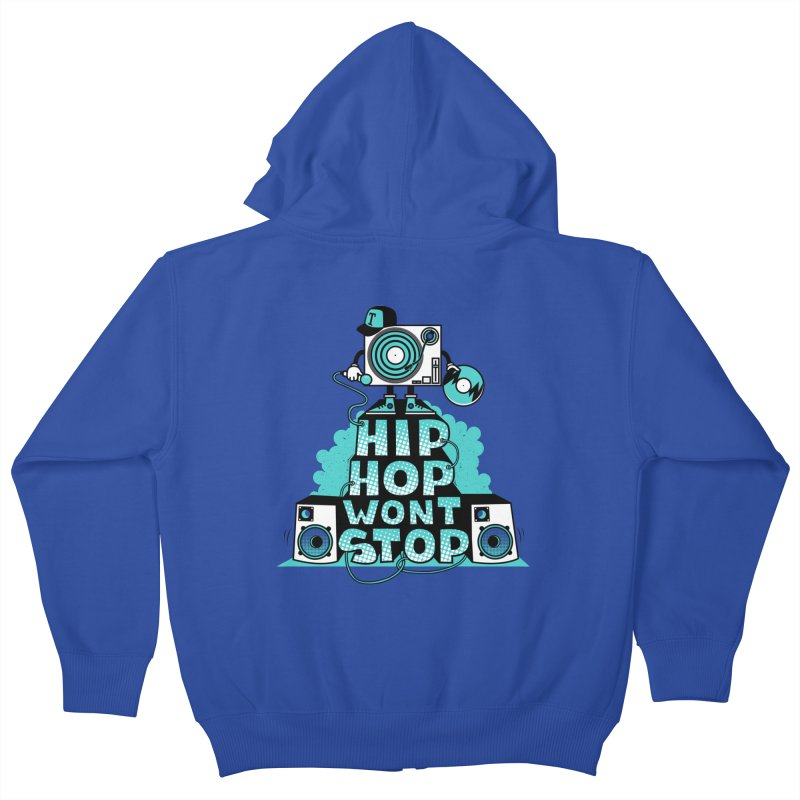 HIP-HOP WON'T STOP Kids Zip-Up Hoody by jumpy's Artist Shop