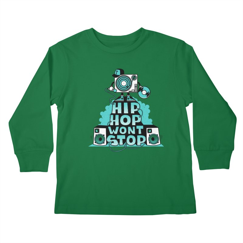 HIP-HOP WON'T STOP Kids Longsleeve T-Shirt by jumpy's Artist Shop