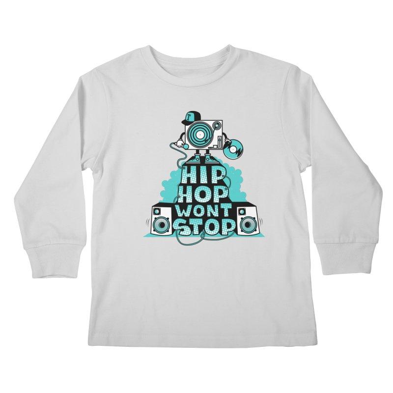 HIP-HOP WON'T STOP Kids Longsleeve T-Shirt by jumpy's Artist Shop