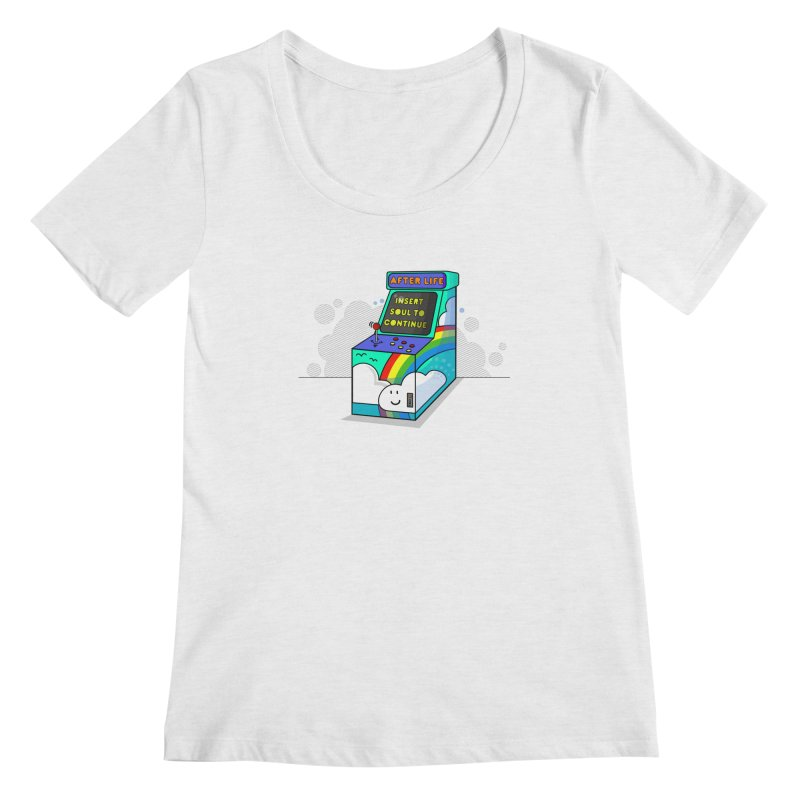 AFTERLIFE is not a game Women's Scoopneck by jumpy's Artist Shop