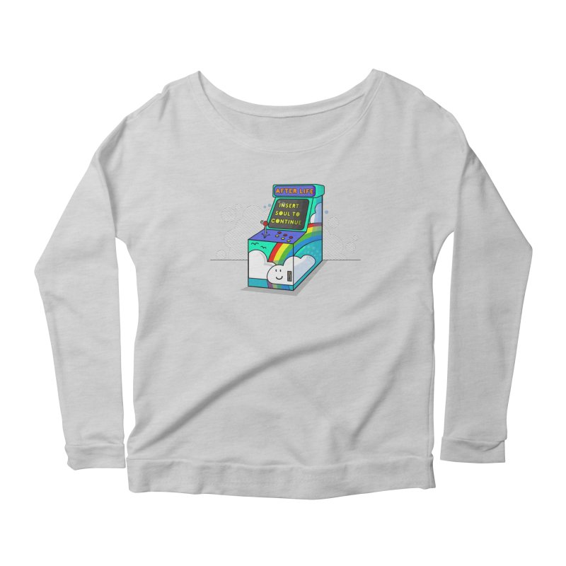 AFTERLIFE is not a game Women's Longsleeve Scoopneck  by jumpy's Artist Shop
