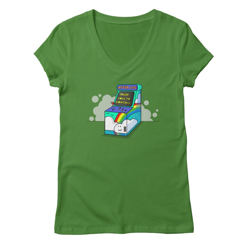 AFTERLIFE is not a game Women's V-Neck by jumpy's Artist Shop