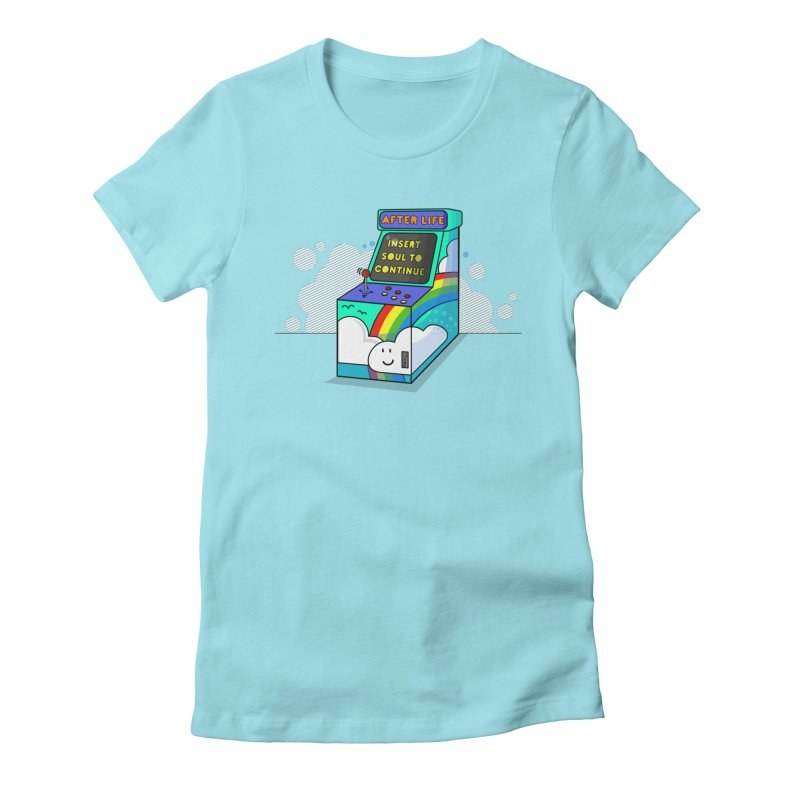 AFTERLIFE is not a game Women's Fitted T-Shirt by jumpy's Artist Shop
