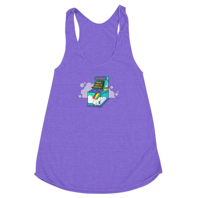 AFTERLIFE is not a game Women's Racerback Triblend Tank by jumpy's Artist Shop