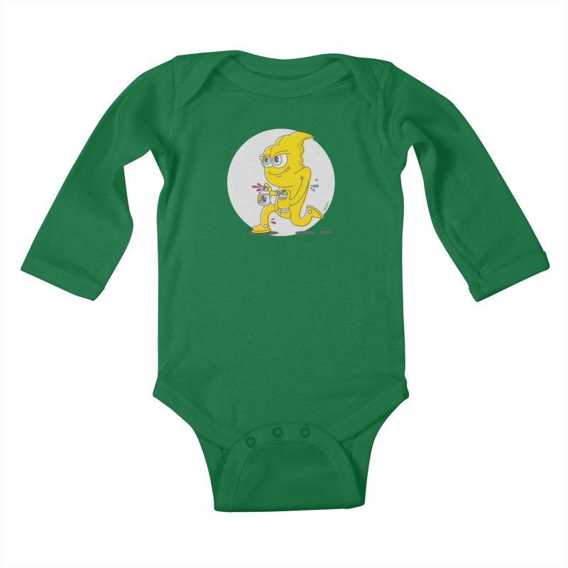 Graffiti Bandit Kids Baby Longsleeve Bodysuit by jumpy's Artist Shop