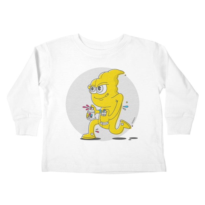 Graffiti Bandit Kids Toddler Longsleeve T-Shirt by jumpy's Artist Shop