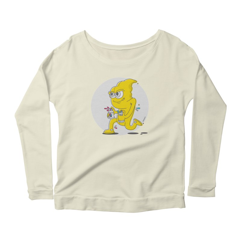 Graffiti Bandit Women's Longsleeve Scoopneck  by jumpy's Artist Shop