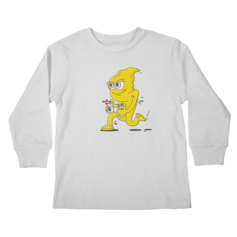 Graffiti Bandit Kids Longsleeve T-Shirt by jumpy's Artist Shop