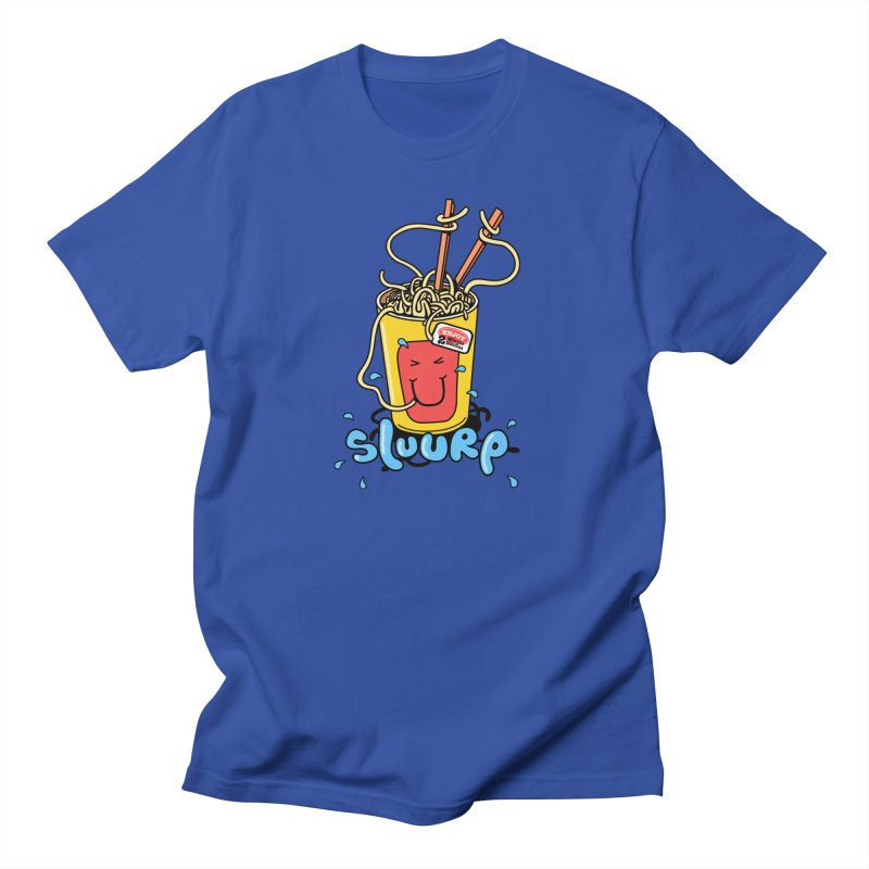 Noodle Brain in Men's T-Shirt Royal Blue by jumpy's Artist Shop