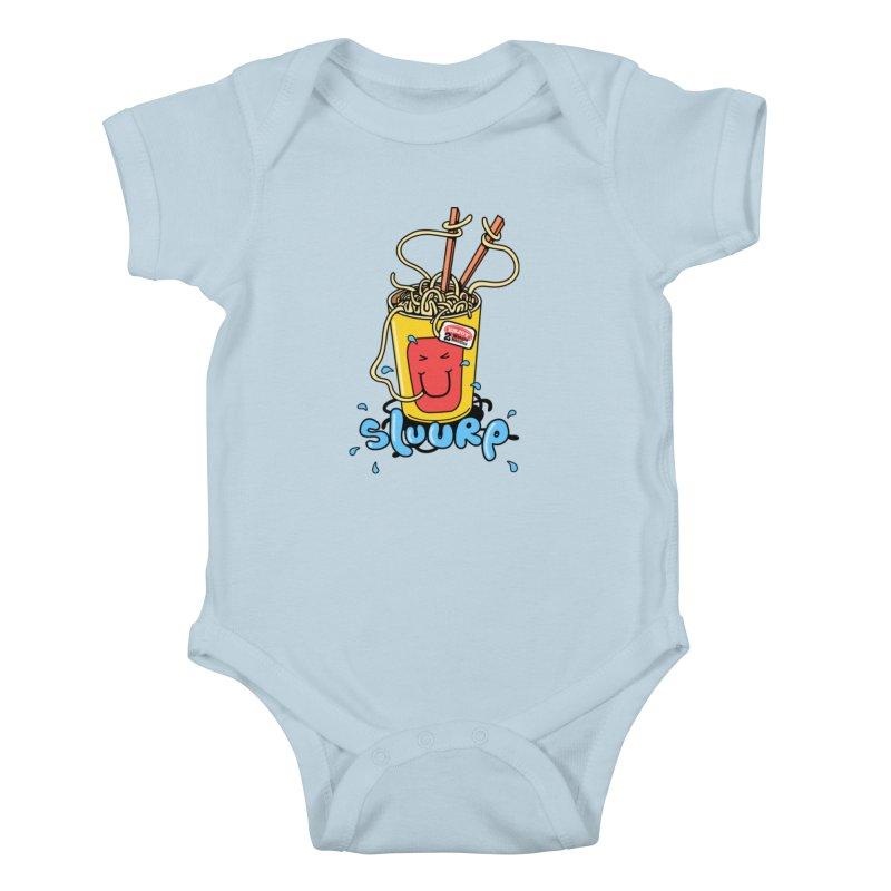 Noodle Brain Kids Baby Bodysuit by jumpy's Artist Shop