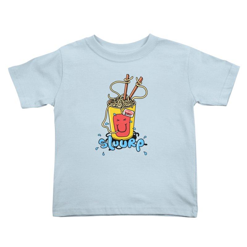 Noodle Brain Kids Toddler T-Shirt by jumpy's Artist Shop