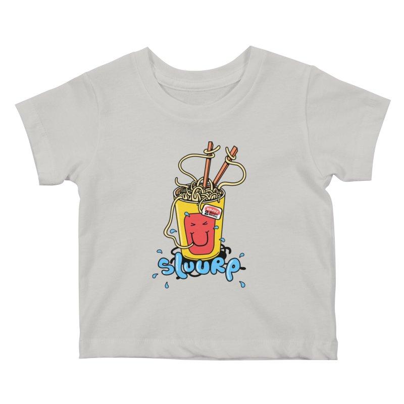 Noodle Brain Kids Baby T-Shirt by jumpy's Artist Shop