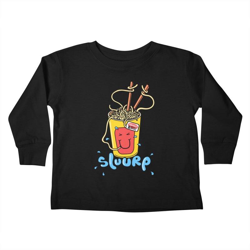 Noodle Brain Kids Toddler Longsleeve T-Shirt by jumpy's Artist Shop