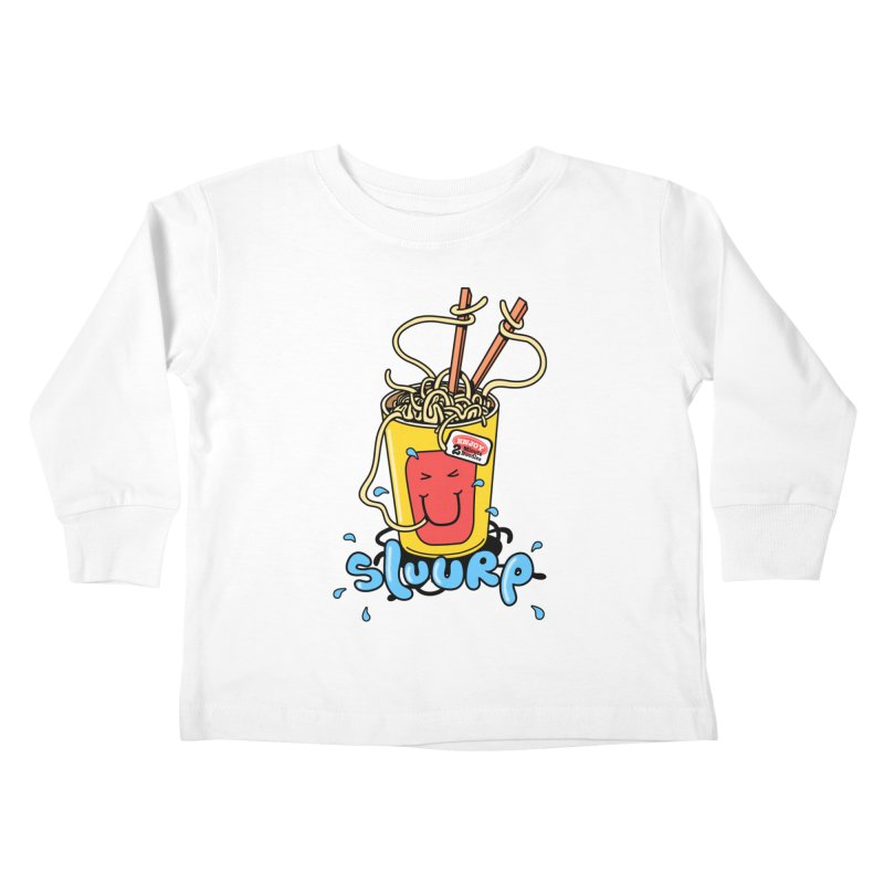 Noodle Brain Kids Toddler Longsleeve T-Shirt by jumpy's Artist Shop