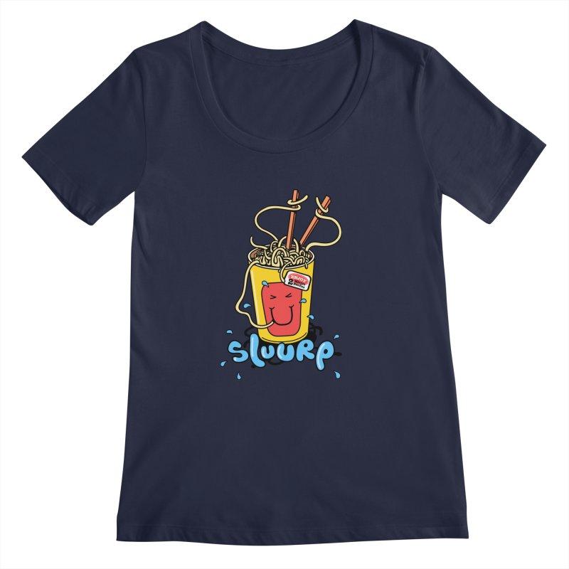Noodle Brain Women's Scoopneck by jumpy's Artist Shop