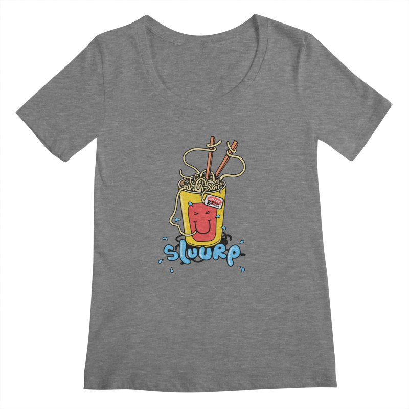 Noodle Brain Women's Scoopneck by jumpy's Artist Shop