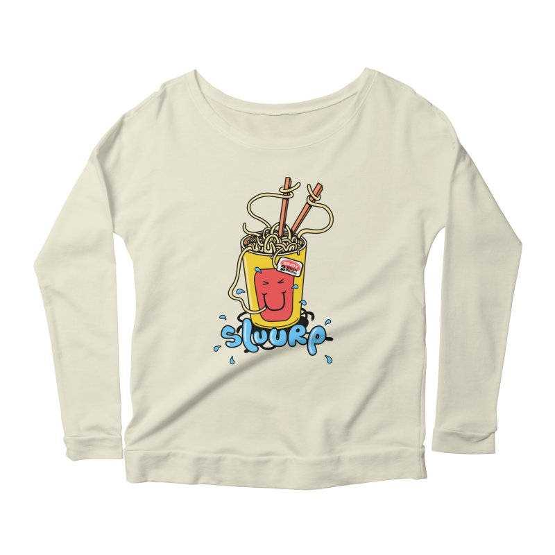 Noodle Brain Women's Longsleeve Scoopneck  by jumpy's Artist Shop