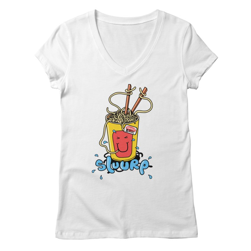 Noodle Brain Women's V-Neck by jumpy's Artist Shop