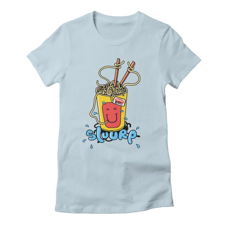 Noodle Brain Women's Fitted T-Shirt by jumpy's Artist Shop