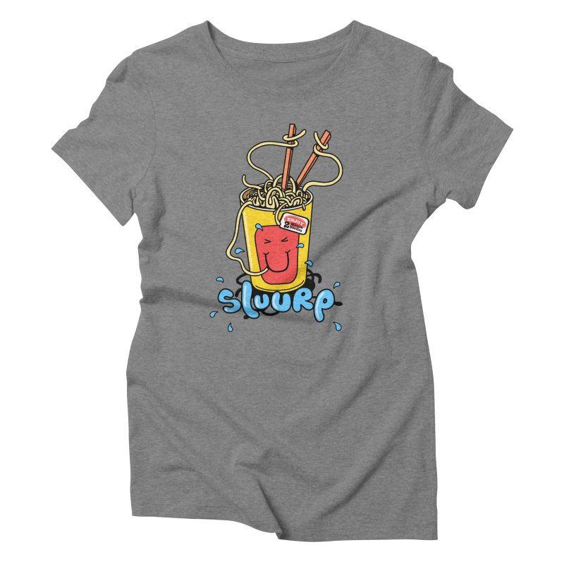 Noodle Brain Women's Triblend T-shirt by jumpy's Artist Shop