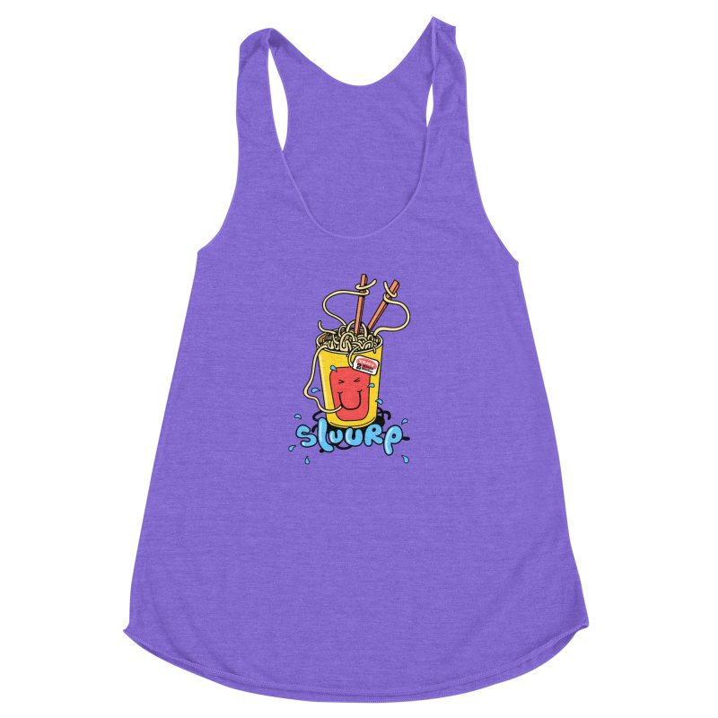 Noodle Brain Women's Racerback Triblend Tank by jumpy's Artist Shop