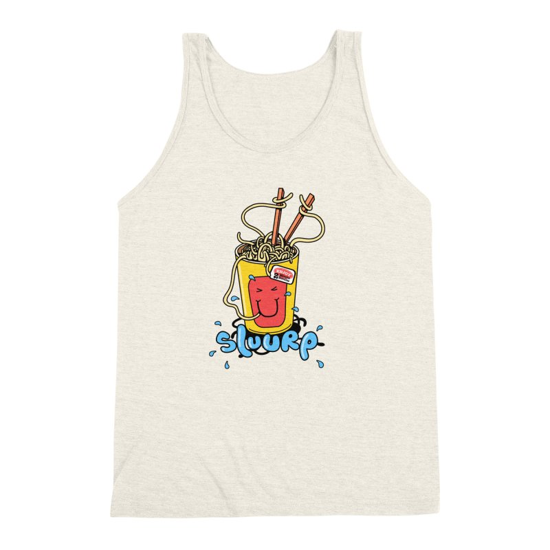 Noodle Brain Men's Triblend Tank by jumpy's Artist Shop