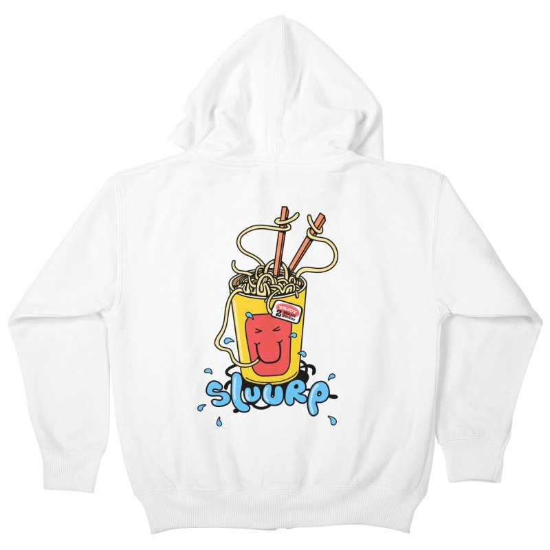 Noodle Brain Kids Zip-Up Hoody by jumpy's Artist Shop