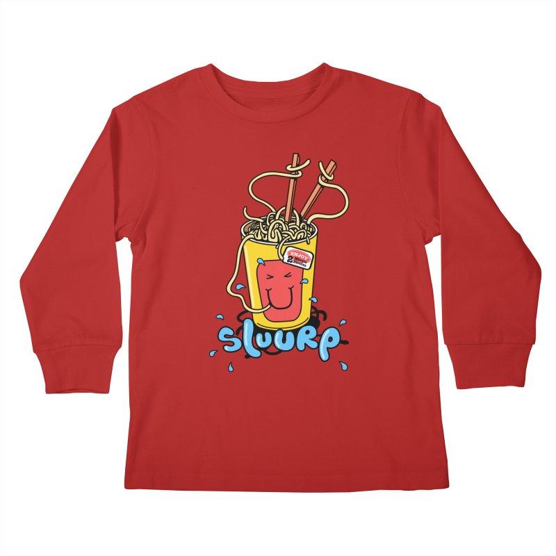 Noodle Brain Kids Longsleeve T-Shirt by jumpy's Artist Shop