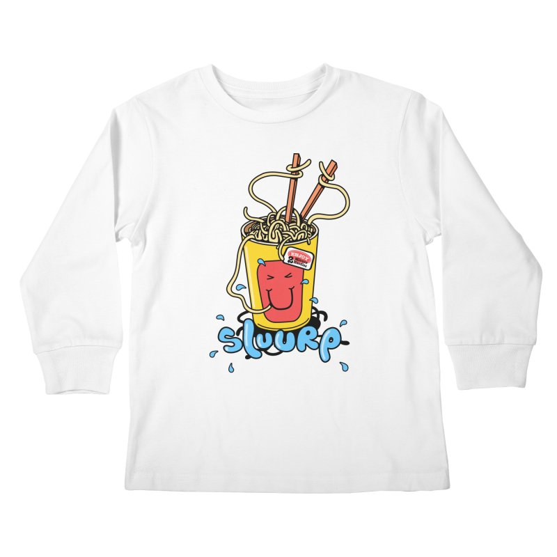 Noodle Brain Kids Longsleeve T-Shirt by jumpy's Artist Shop