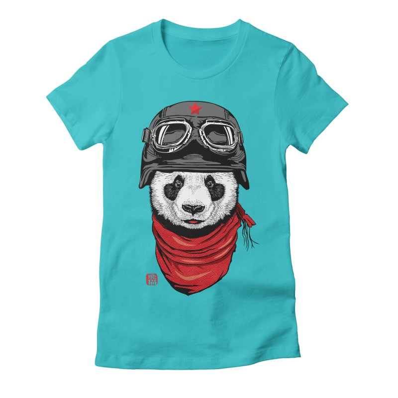 The Happy Adventurer Women's Fitted T-Shirt by Jun087