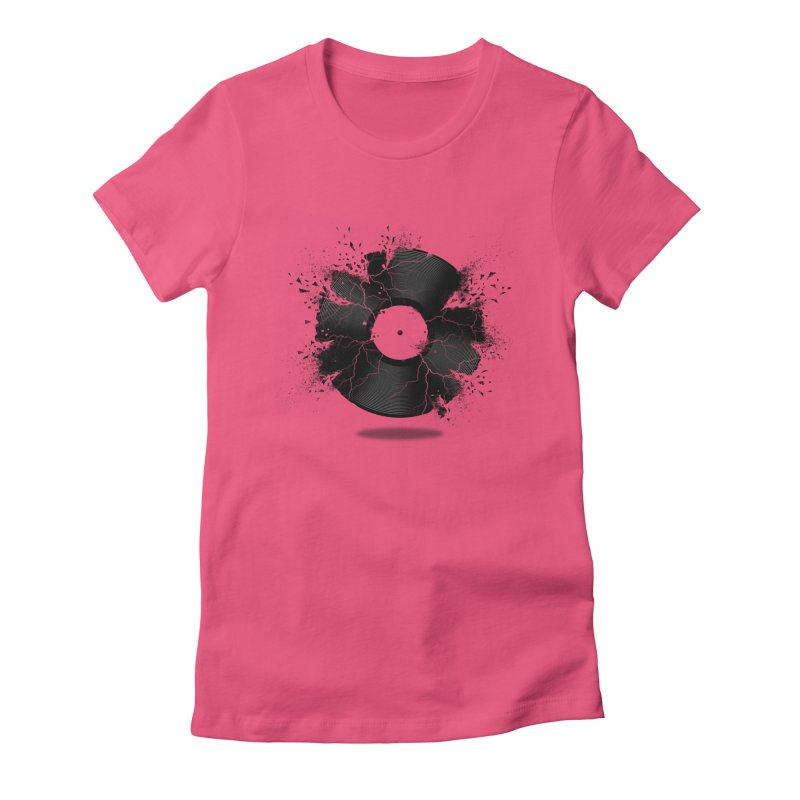 Break The Record Women's Fitted T-Shirt by Jun087
