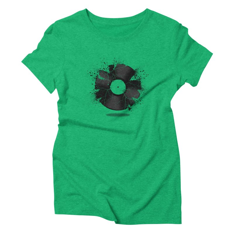 Break The Record Women's Triblend T-shirt by Jun087