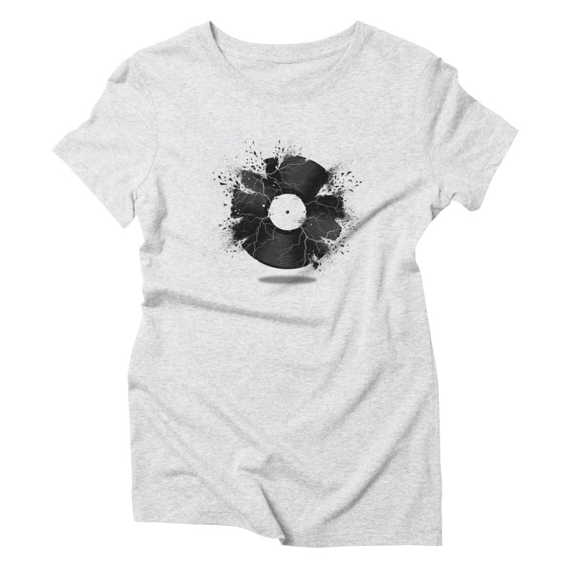 Break The Record Women's Triblend T-Shirt by Jun087