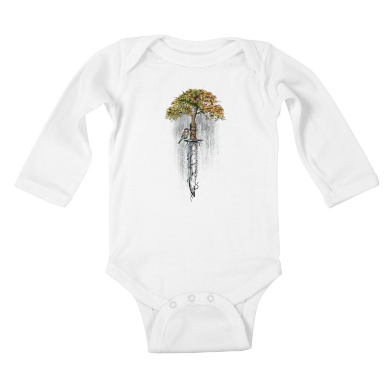 Back to life Kids Baby Longsleeve Bodysuit by Jun087