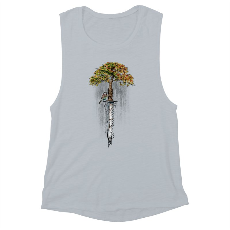 Back to life Women's Muscle Tank by Jun087