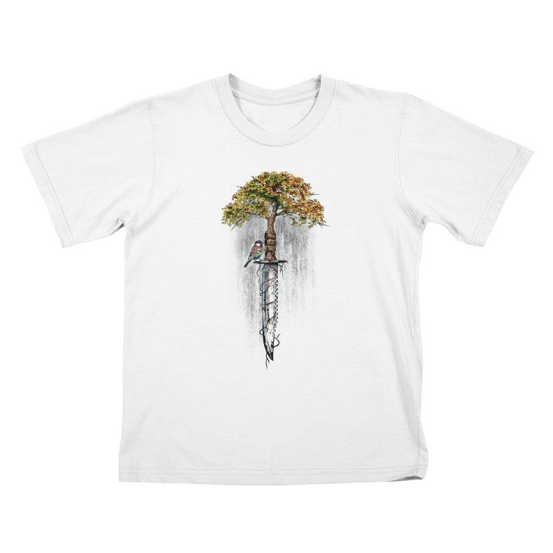 Back to life Kids T-Shirt by Jun087