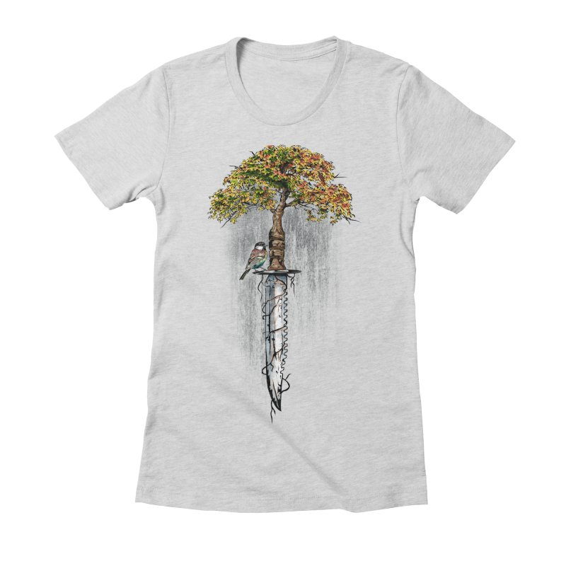 Back to life Women's Fitted T-Shirt by Jun087