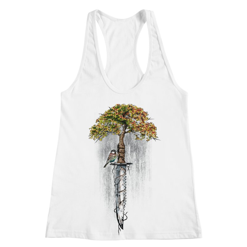 Back to life Women's Racerback Tank by Jun087